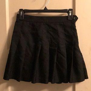 American Apparel Black Pleated Tennis Skirt Small